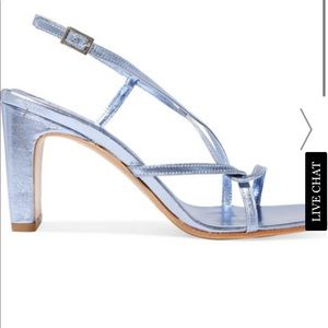 By Far Carrie Metallic Slingback Sandals 36 6